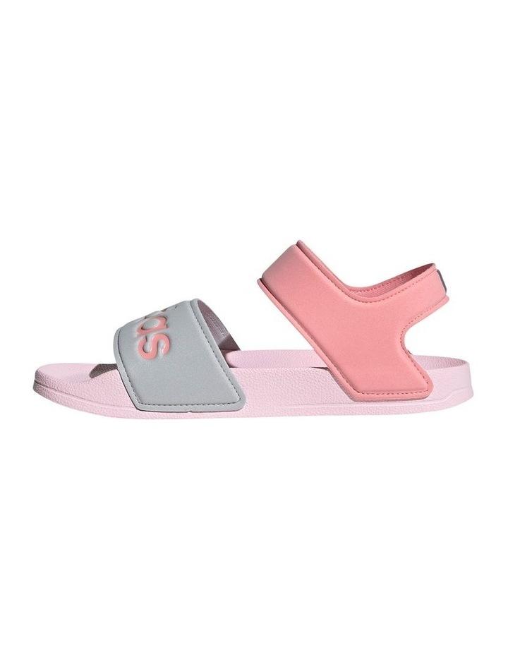 Adilette Sandal K Pink and Silver Sandals image 2