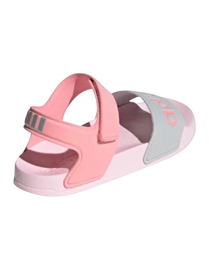 Adilette Sandal K Pink and Silver Sandals image 3