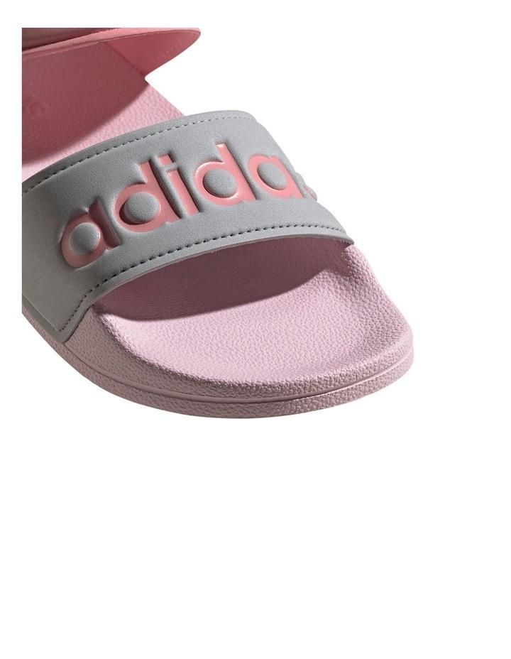 Adilette Sandal K Pink and Silver Sandals image 4
