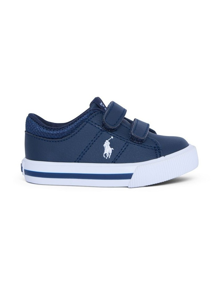 Elmwood Tumbled Infant Navy and White Sneakers image 1