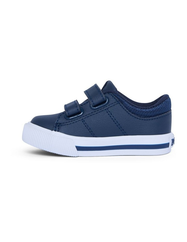Elmwood Tumbled Infant Navy and White Sneakers image 2