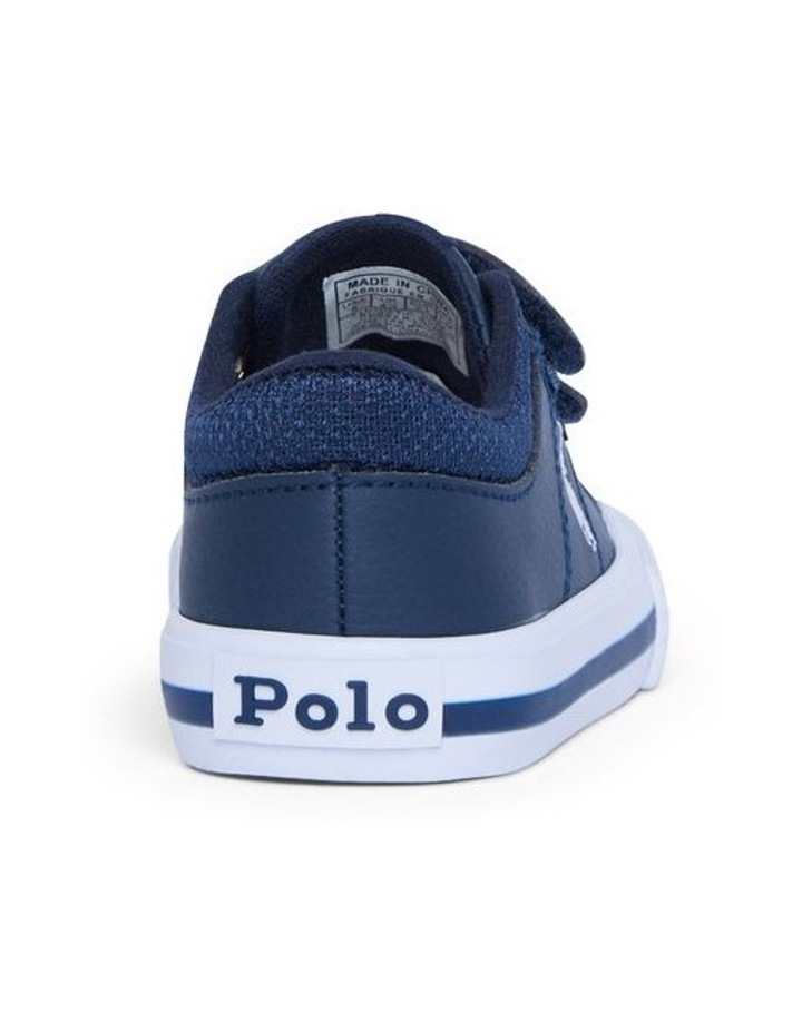 Elmwood Tumbled Infant Navy and White Sneakers image 3