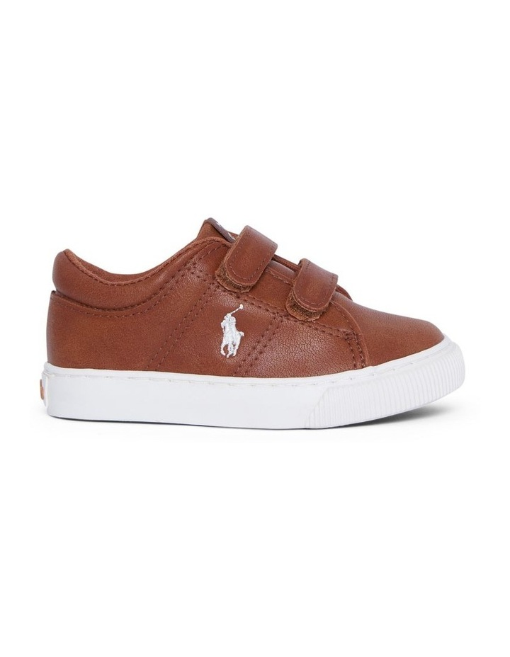 Elmwood Tumbled Infant Tan and White Sneakers image 1
