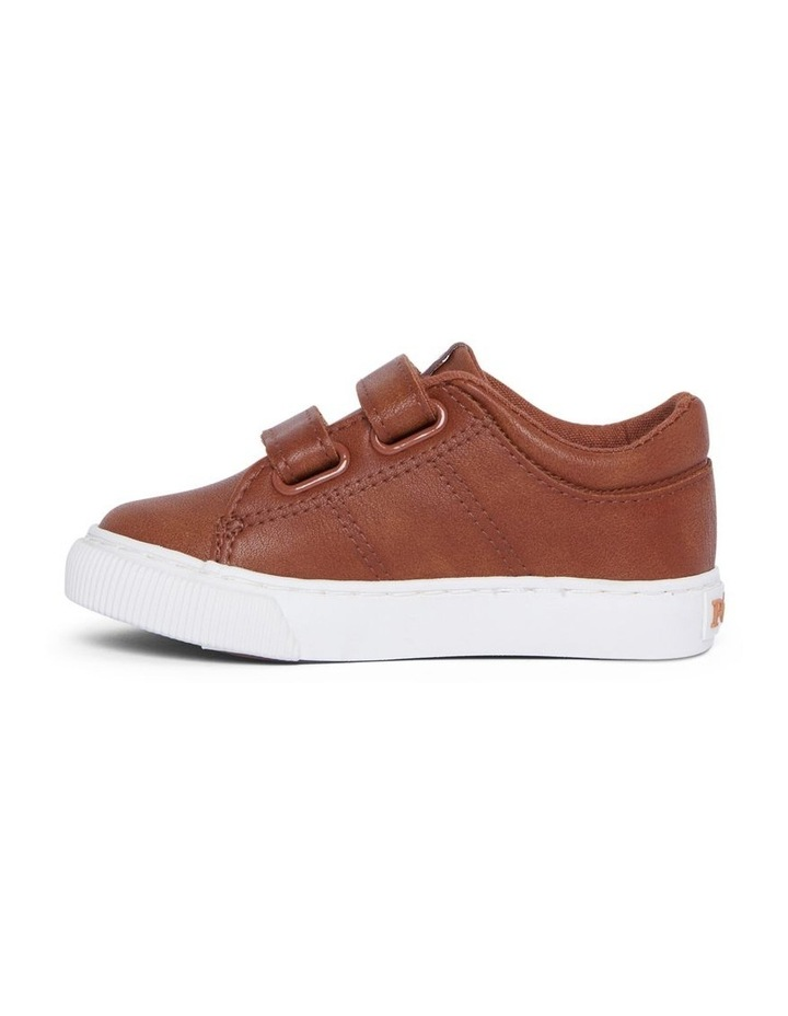 Elmwood Tumbled Infant Tan and White Sneakers image 2