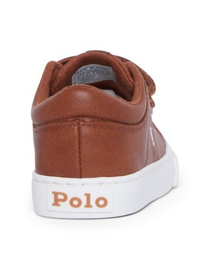 Elmwood Tumbled Infant Tan and White Sneakers image 3