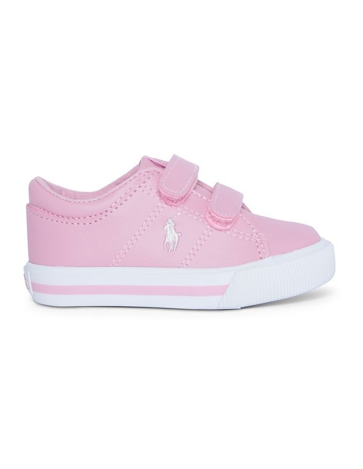 Elmwood Tumbled Infant Pink and White Sneakers image 1