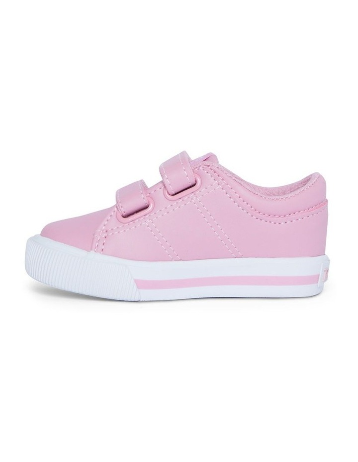 Elmwood Tumbled Infant Pink and White Sneakers image 2