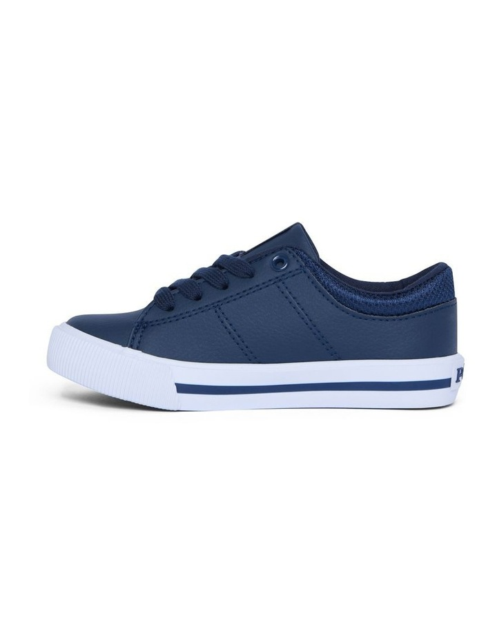 Elmwood Tumbled Youth Navy and White Sneakers image 2