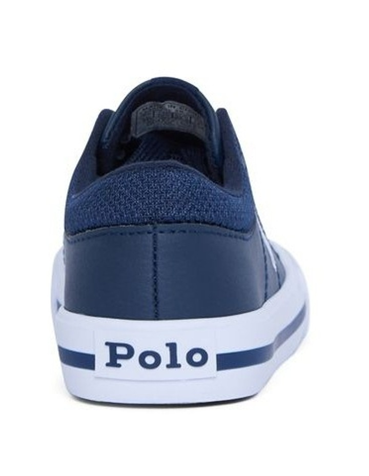 Elmwood Tumbled Youth Navy and White Sneakers image 3