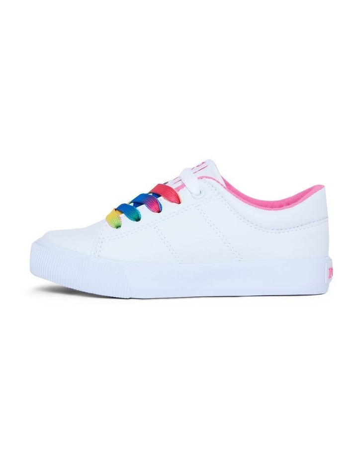 Elmwood Tumbled Youth White and Pink Sneakers image 2