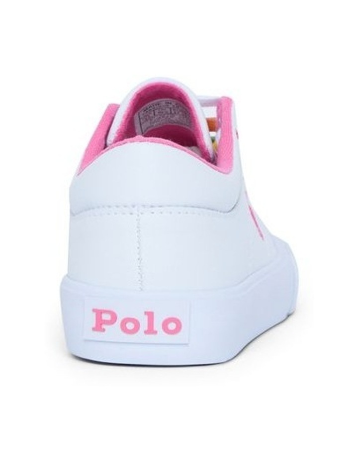 Elmwood Tumbled Youth White and Pink Sneakers image 3