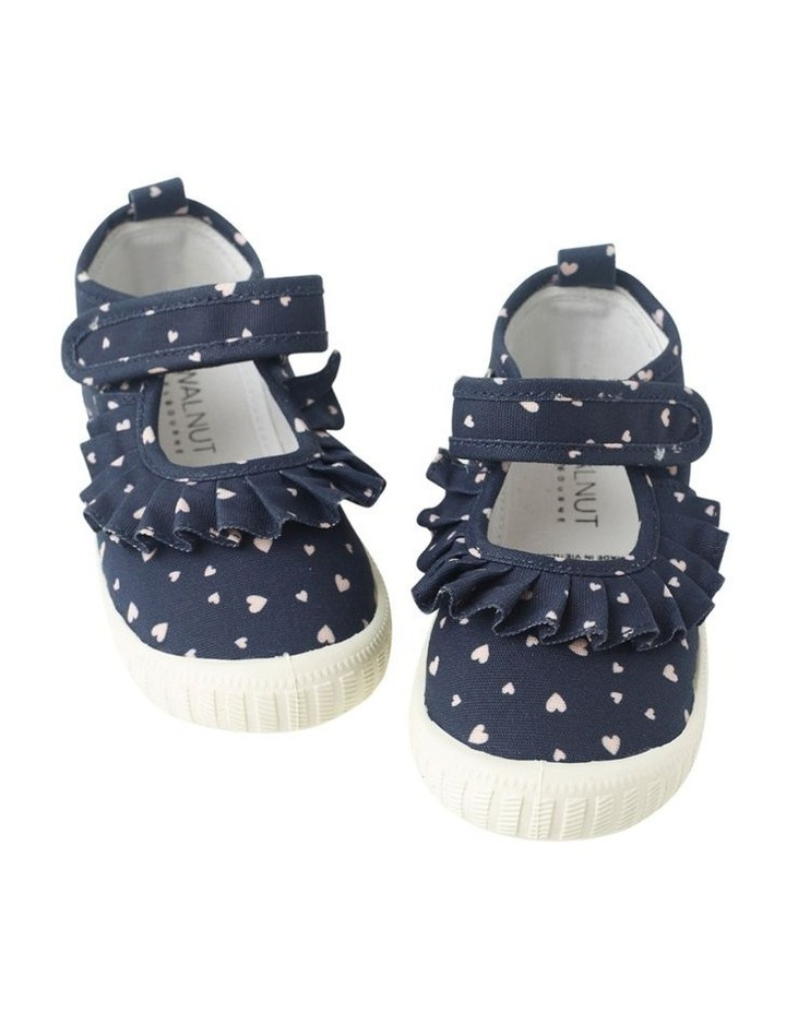 Classic Mary Jane Frill - Hearts Navy Sneakers image 2