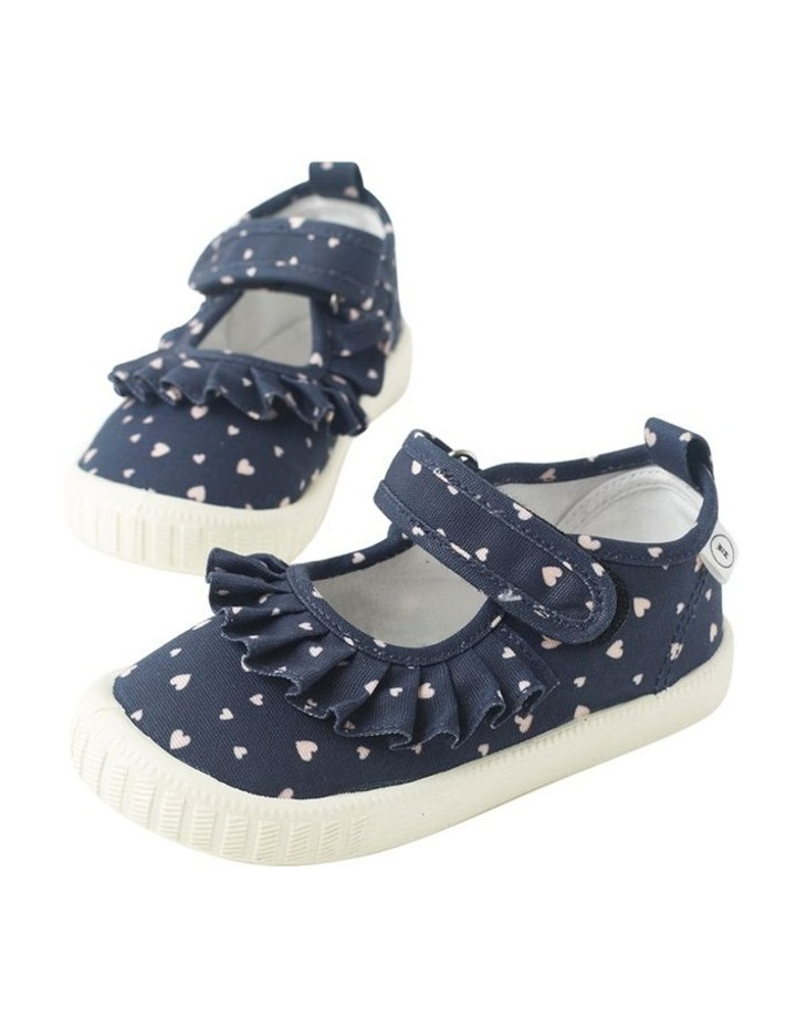Classic Mary Jane Frill - Hearts Navy Sneakers image 4