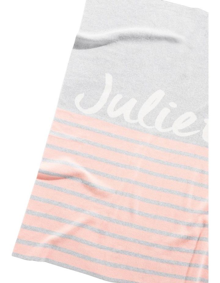 Pink Stripe Cot Style Blaket (Personalise Me!) image 1