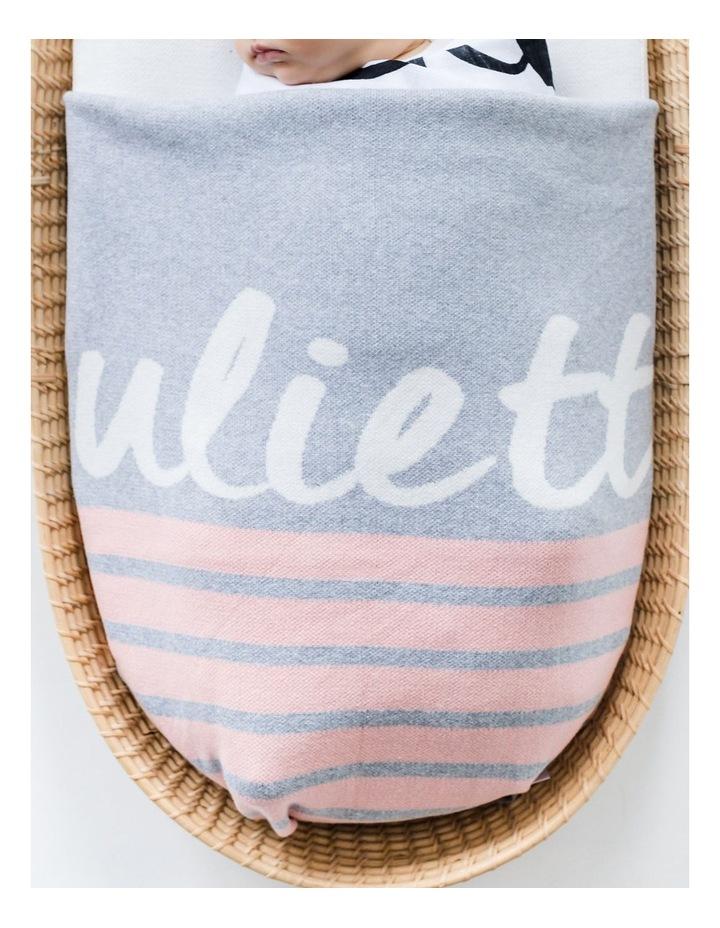 Pink Stripe Cot Style Blaket (Personalise Me!) image 2