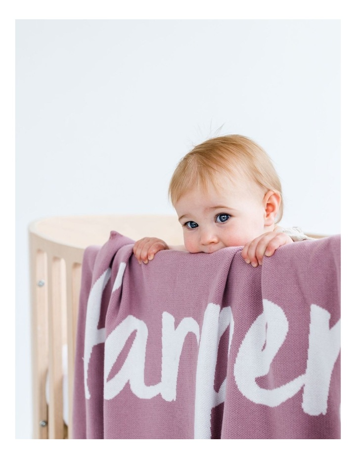 Dusty Rose Cot Style Blanket With Rib (Personalise Me!) image 2