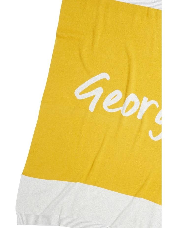 Saffron Mustard Colour Block Blanket (Personalise Me!) image 1