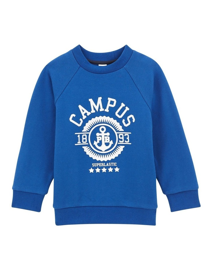 Boys Crew Neck Campus Sweat 44823 image 1