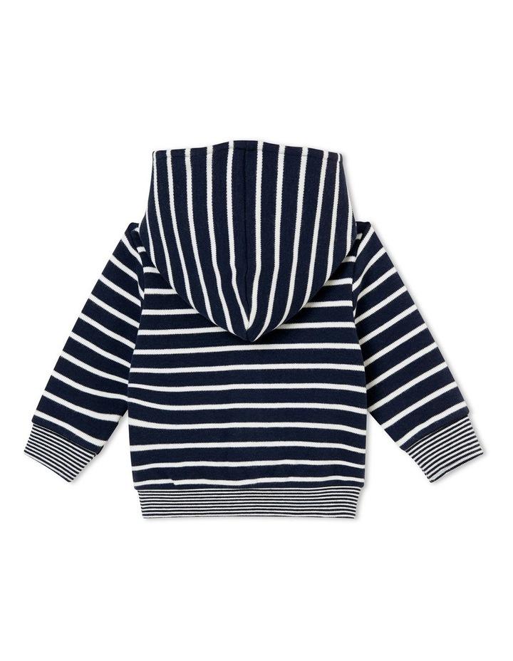 Boys Striped Hooded Sweatshirt 44733 image 2