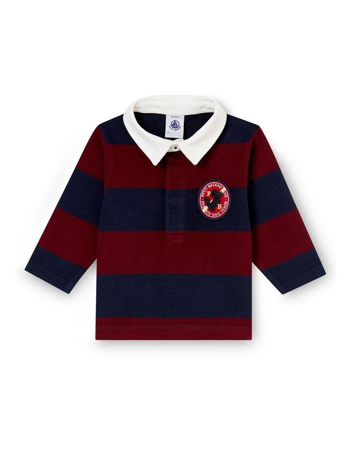 Boys Long Sleeve Rugby Polo 44384 image 1