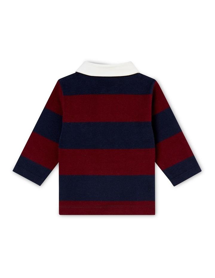 Boys Long Sleeve Rugby Polo 44384 image 2