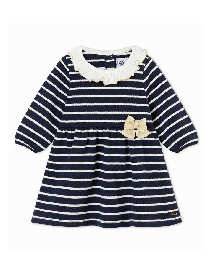 Girls Collar Detail Striped Dress 44329 image 1