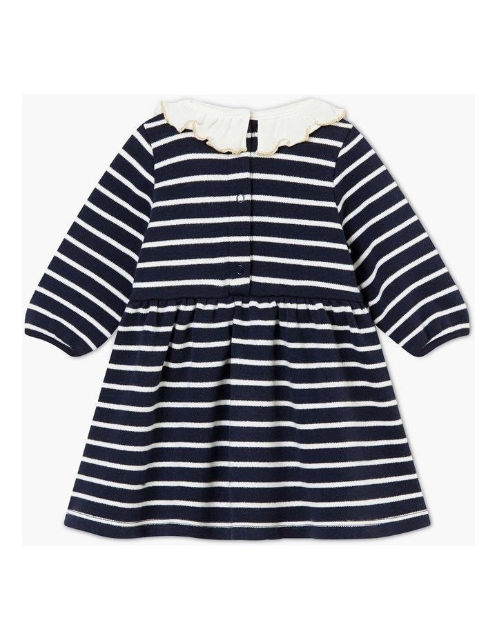 Girls Collar Detail Striped Dress 44329 image 2