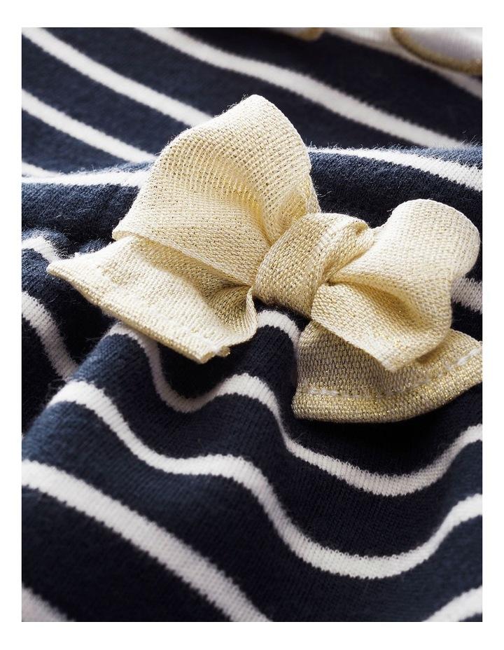Girls Collar Detail Striped Dress 44329 image 3