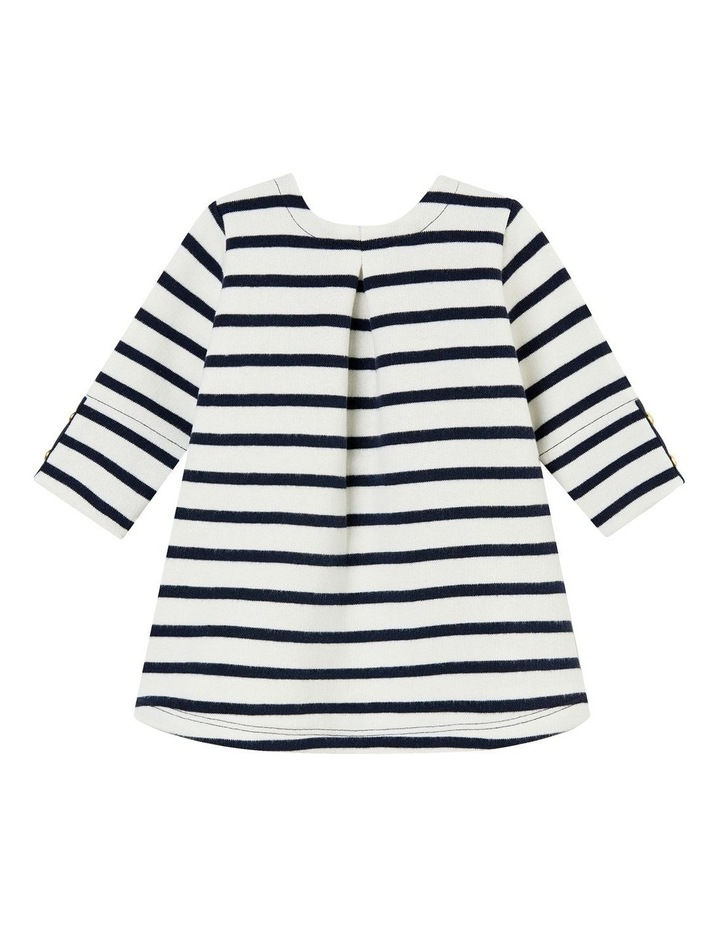 Girls Feature Placket Striped Dress  44314 image 2
