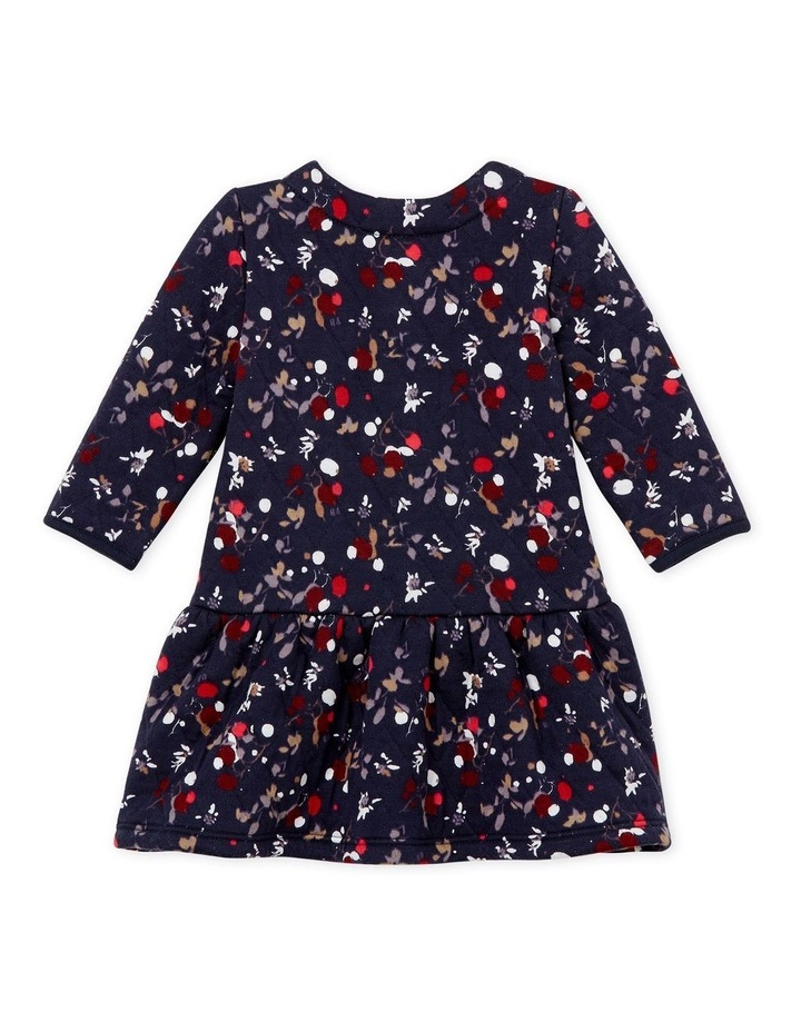 Girls Long Sleeve Quilted Print Dress 44319 image 2