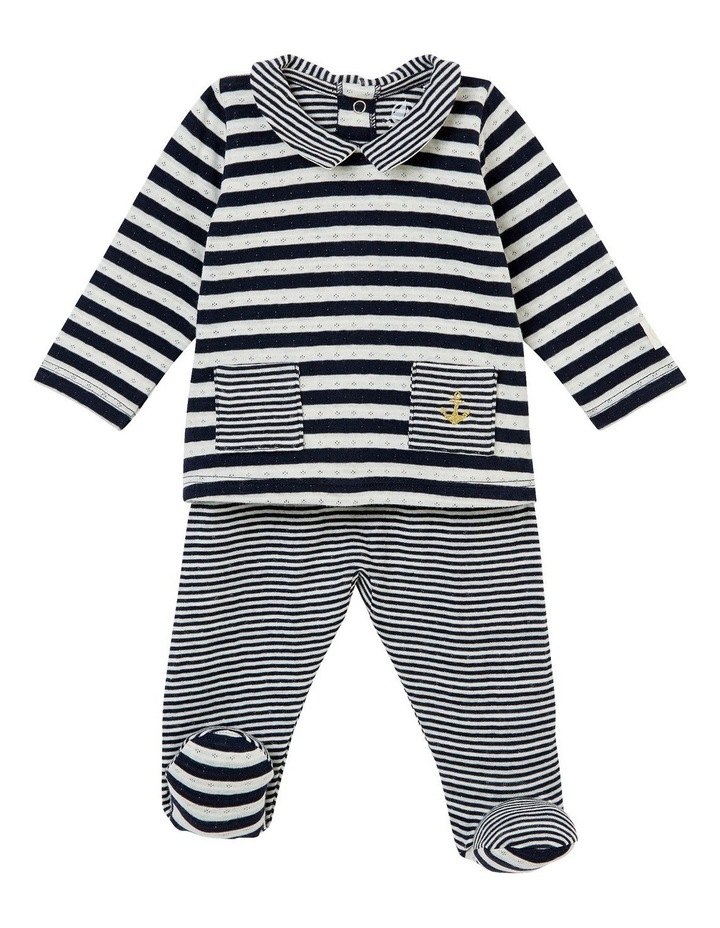 Boys Striped Top And Bottom Outfit 44087 image 1