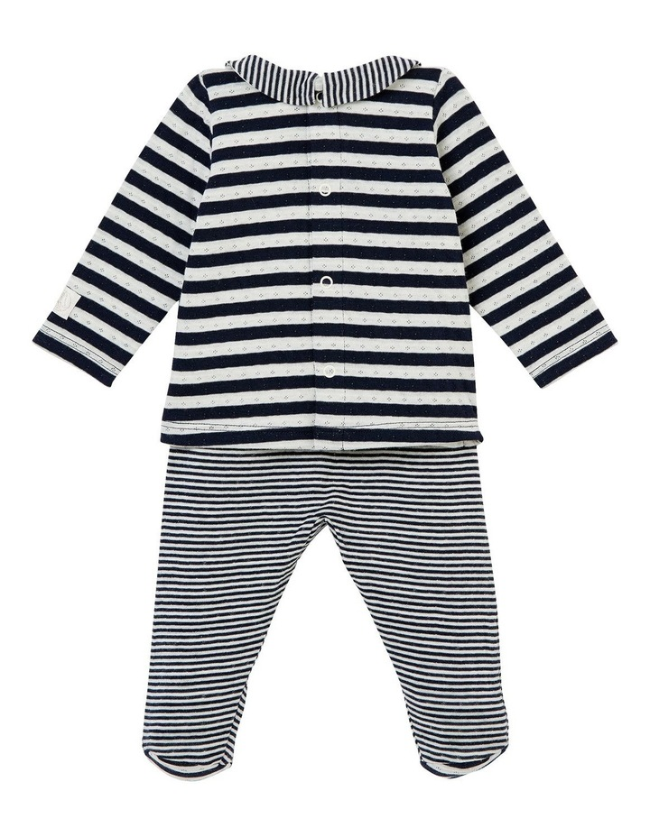 Boys Striped Top And Bottom Outfit 44087 image 2