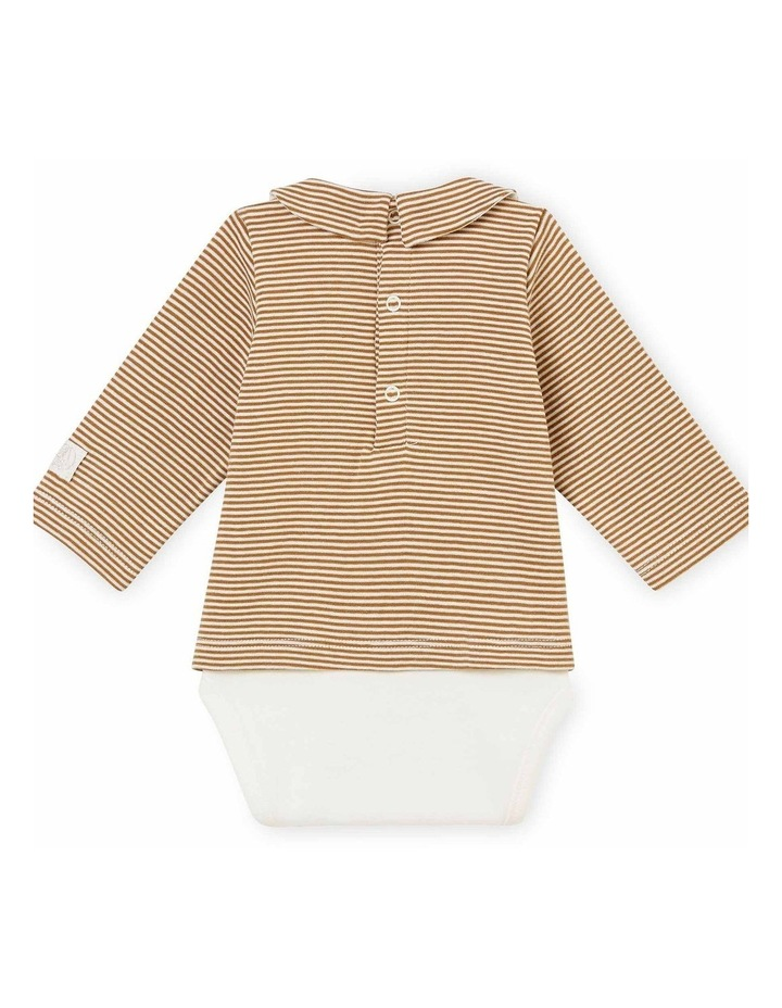 Unisex Striped Long Sleeve Bodysuit 44080 image 2
