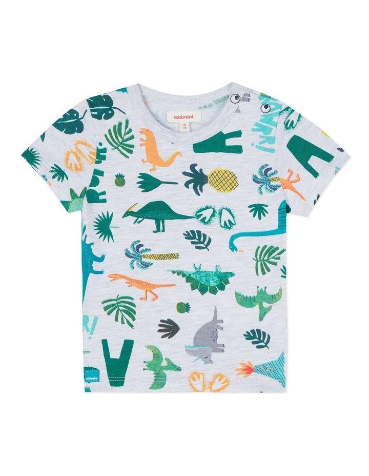 Boys Dinosaur Print T-Shirt image 1