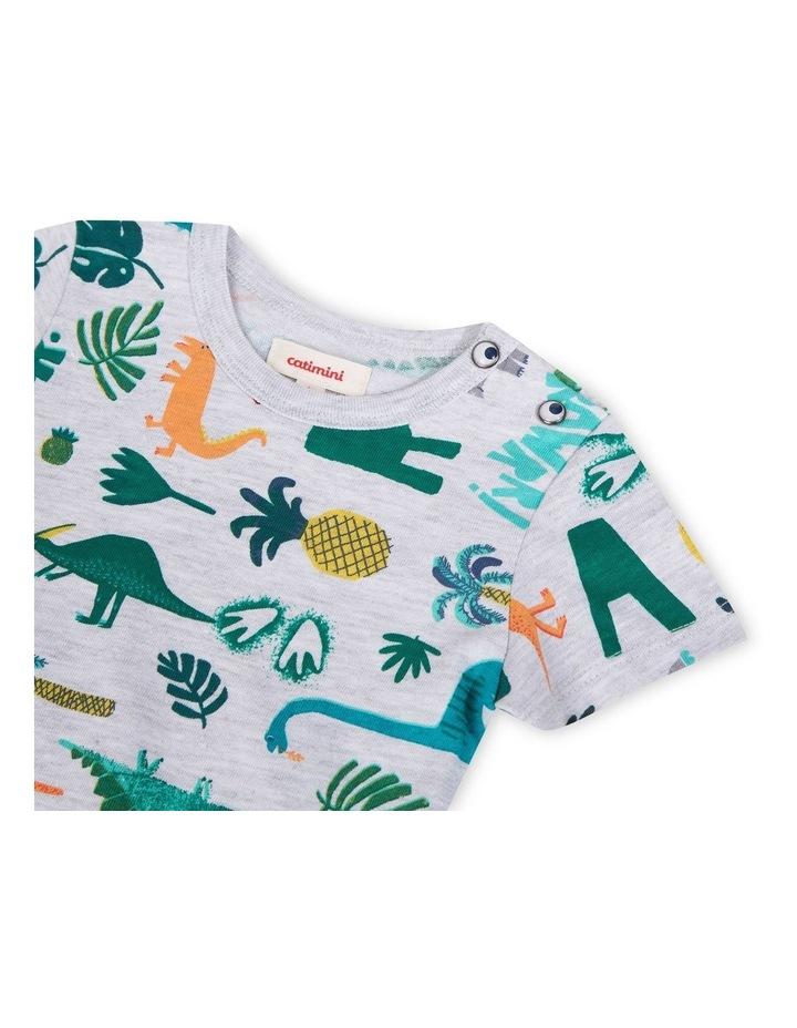Boys Dinosaur Print T-Shirt image 3