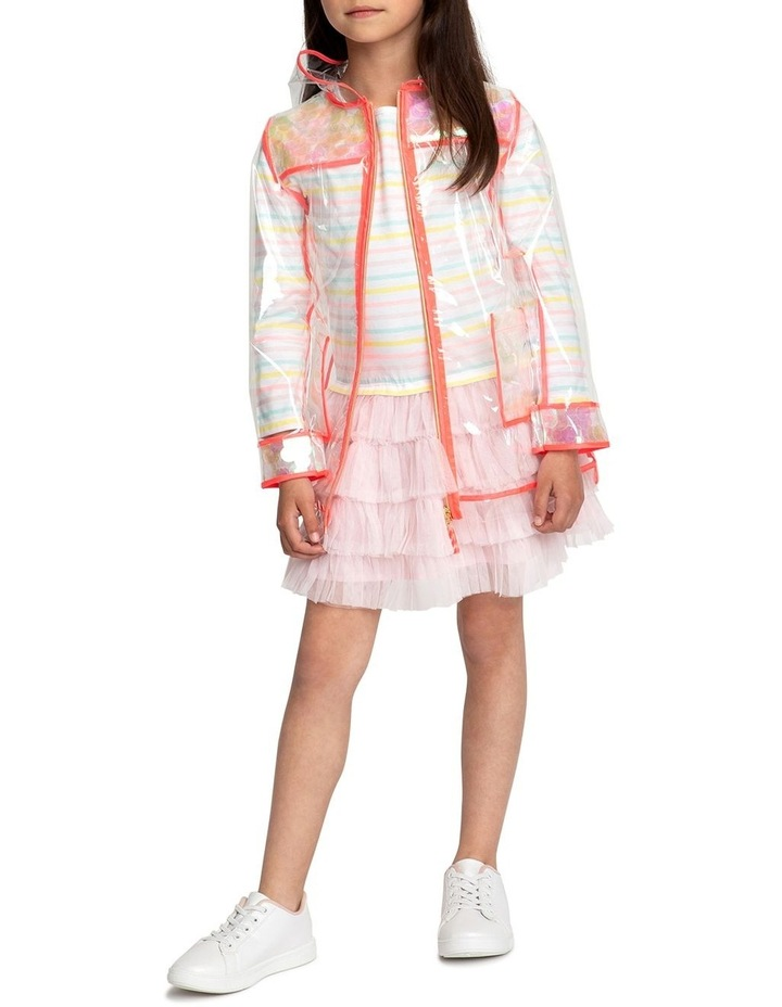 Striped Dual-Material Dress image 3