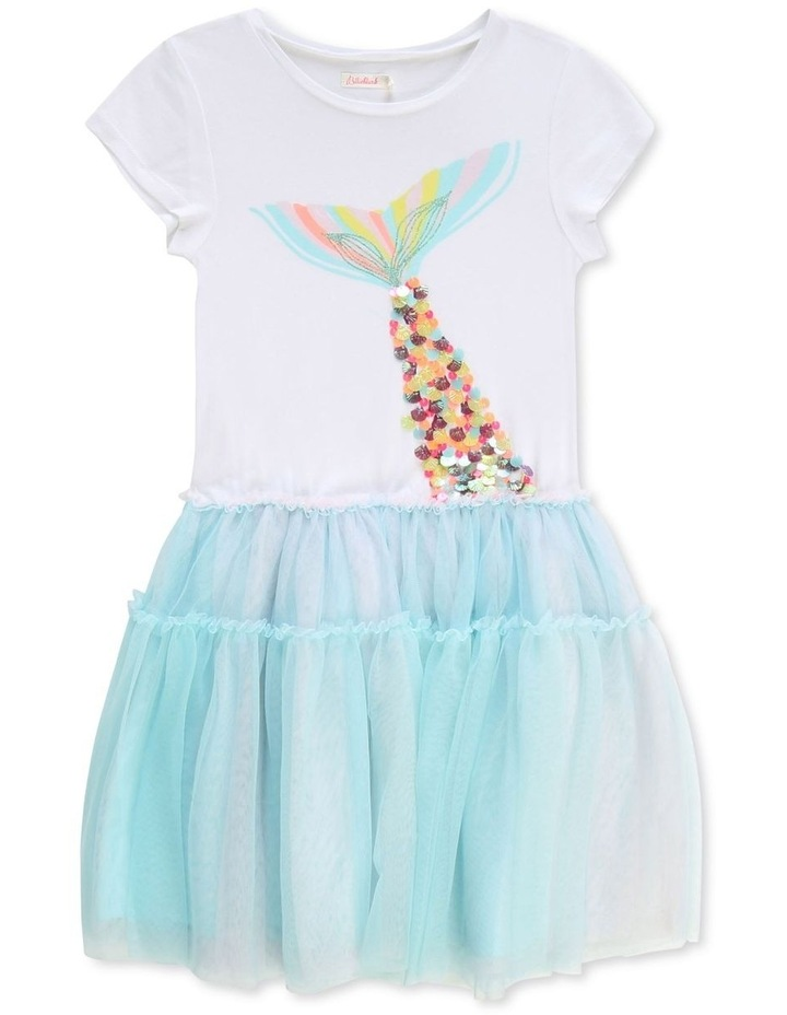 Dual-Material Novelty Dress image 1