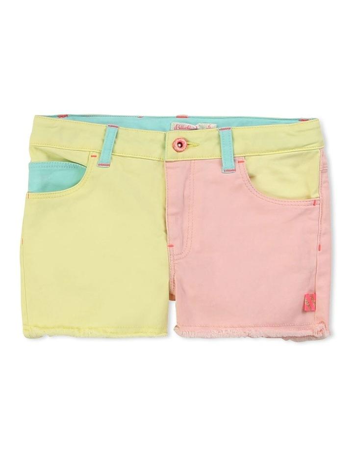 Multicoloured Twill Shorts image 1