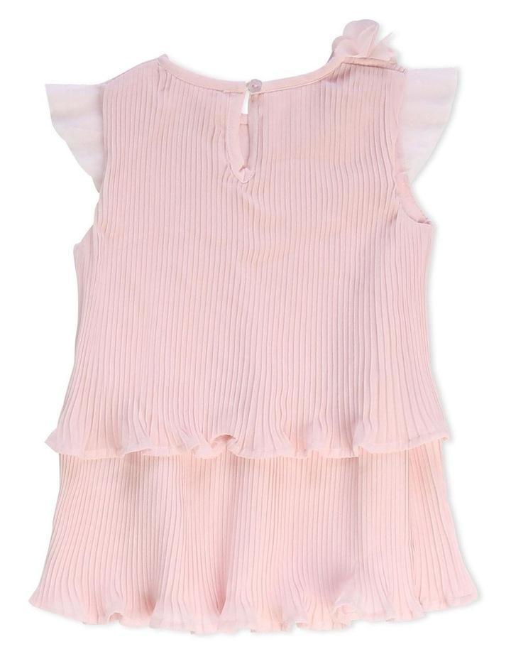 Short-Sleeved Pleated Dress image 2