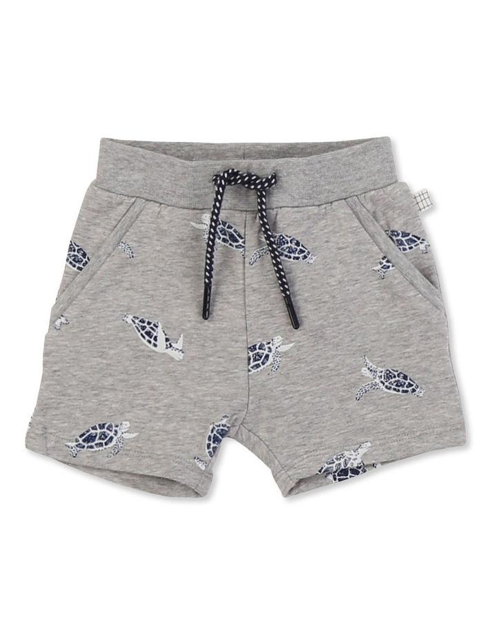 Printed Fleece Shorts image 1