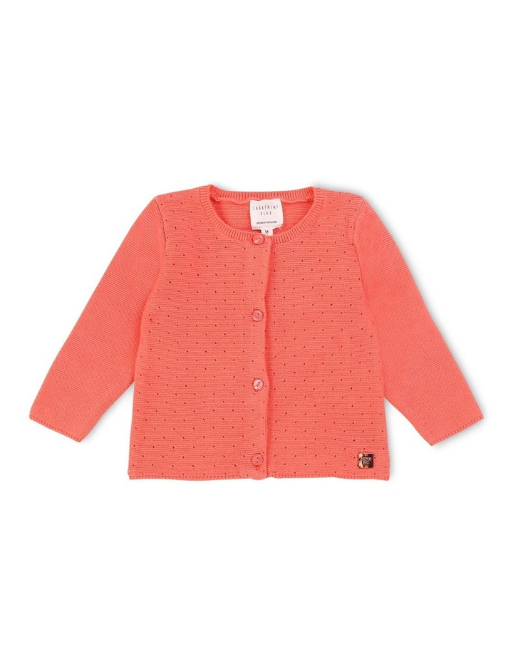 Tricot Cardigan With Openwork image 1