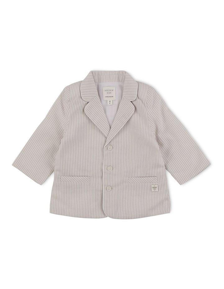 Striped Cotton Formal Jacket image 1