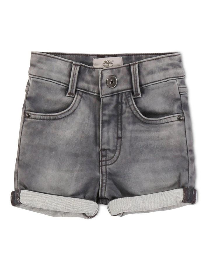 Fleece-Effect Denim Shorts image 1