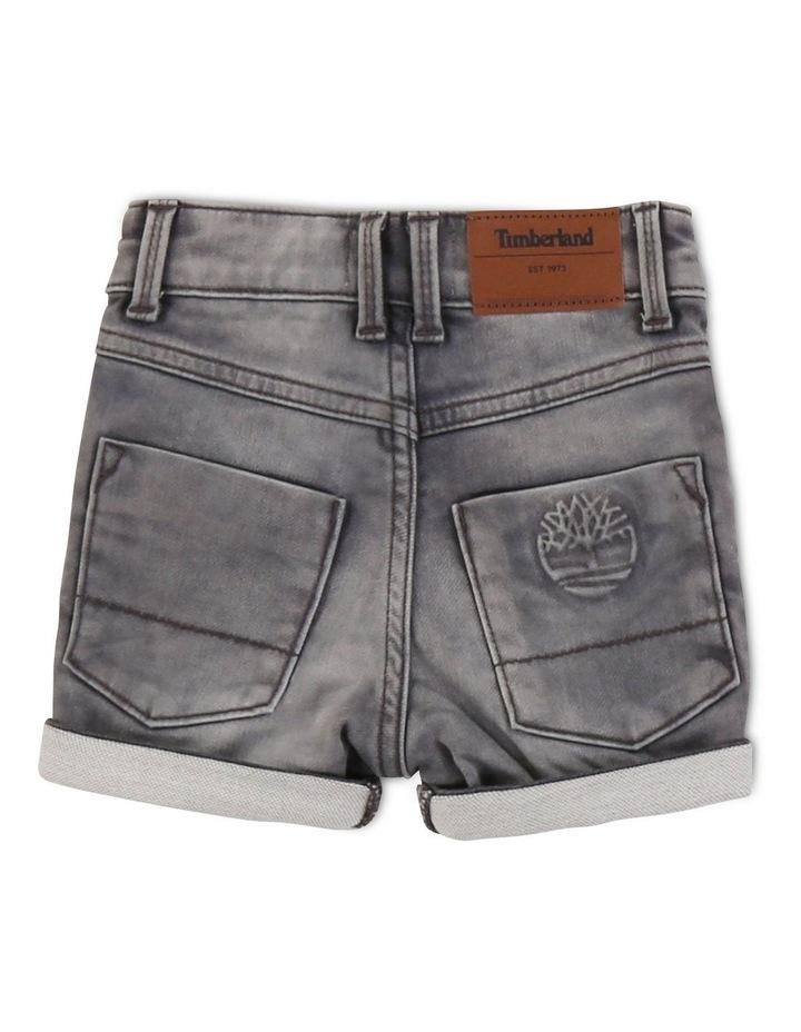 Fleece-Effect Denim Shorts image 2