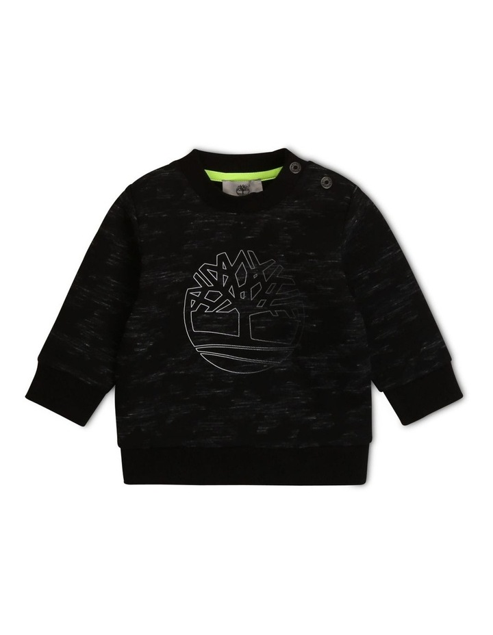 Timberland-Camo Printed  Fleece Sweatshirt image 1