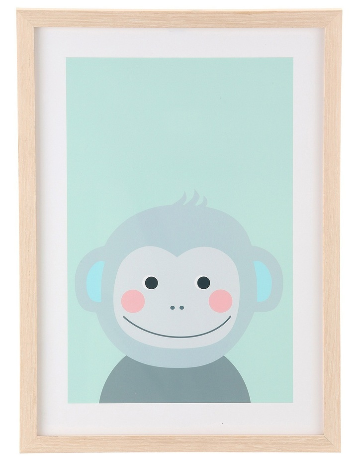 Framed Art Animal Faces - Monkey image 1