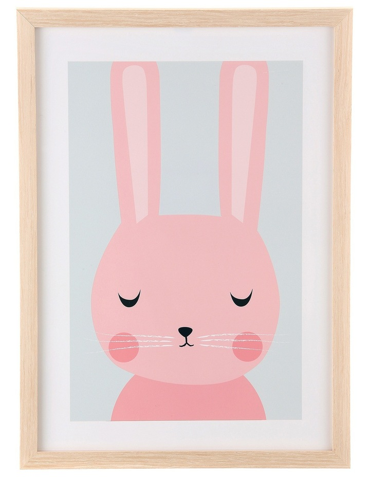 Framed Art Animal Faces - Bunny image 1