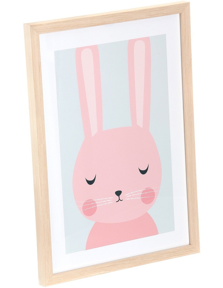 Framed Art Animal Faces - Bunny image 2