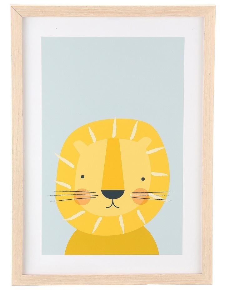 Framed Art Animal Faces -Lion image 1