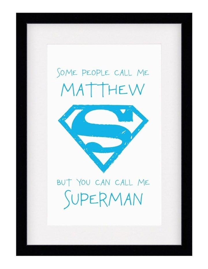 Personalised Framed Art DC-SomePeo Superman image 1
